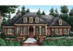 Orleans - Home Plans and House Plans by Frank Betz Associates  #orleans  #homeplans #frankbetz #floorplans #frenchcolonial