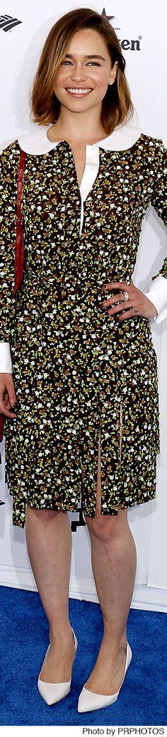 Emilia Clarke in a Michael Kors dress, Mark Cross bag and Piaget jewelry - 2016 Film Independent Spirit Awards