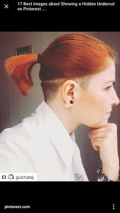 Undercut Over Ear Makeup Hair Cuts Undercut Ponytail Razor Cut Undercut Ponytail, Nape Undercut, Undercut Hairstyles Women, Short Hair Undercut, Undercut Women, Hairstyles With Bangs, Shaved Hairstyles, Haircuts, Fine Hair Bangs