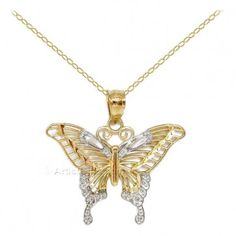 Gold Swallowtail Butterfly Necklace, Made in the U. part of our butterfly jewelry collection. Butterfly Gifts, Butterfly Jewelry, Butterfly Pendant, Butterfly Necklace, Gold Cost, Gold Price, Jewelry Gifts, Gold Jewelry, Gold Necklace