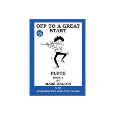 Off to a Great Start Flute Book 1/CD Mark Walton. Lots of familiar tunes with learning to read music explained. Very easy to follow for flute beginners. $23.00