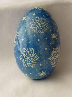 Snowflake series.  Blue goose egg 1