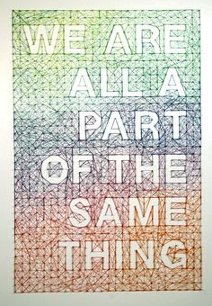 So true. And Dominique Falla creates these intricately woven messages on walls, using thread, nails and immeasurable patience.