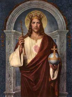 Jesus, King of Kings Que viva Cristo Rey! Jesus Our Savior, Heart Of Jesus, Jesus Is Lord, King Jesus, Lord King, Jesus Faith, Catholic Prayers, Catholic Art, Religious Art