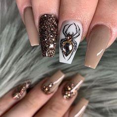 Cute Halloween Nails, Halloween Acrylic Nails, Halloween Nail Designs, Halloween Recipe, Costume Halloween, Women Halloween, Halloween Party, Halloween Decorations, Holloween Nails