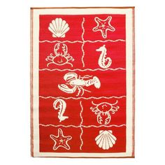 Achla Designs Nautical Design Floor Mats by Achla. $42.70. Measures 4-foot by 6-foot. Polyurethane, woven floor mats. Used both Indoor and Outdoor. Nautical red. Color the ground you walk or sit on with these polyurethane, woven floor mats. Spread them on the porch, the beach, the kitchen floor, or hang on the walls and floor's of children's rooms. We recommend using carpet tape to hold them down. Create great accents anywhere. Our mats are made to last. But like everyth...