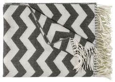 """Santa Monica blanket, grey-white www.artedona.com"