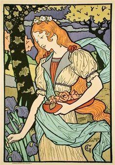 Grafton Gallery, from Les Affiche Illustrees  Artist: Eugène Grasset Completion Date: 1897 Style: Art Nouveau (Modern) Genre: genre painting