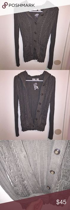 NWT Rubbish Nordstrom Cable Knit Cardigan Beautiful cable knit cardigan with hood. Button down with 2 front pockets. Super soft, warm & cozy. Ribbed sleeves. New with tags, purchased with original tags from Nordstrom. Rubbish Sweaters Cardigans