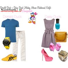 Designer Clothes, Shoes & Bags for Women Daisy Duck, Couple Outfits, Disney Outfits, Daisy Costume, Mickey Mouse Clubhouse Birthday, Disney Style, Donald Duck, Fitness Fashion, Luxury Fashion