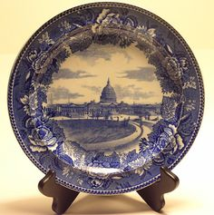 Wedgewood Royal Blue Transfer Ware Historic by PaintedCottageHome, $50.00