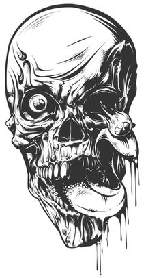 Gruesome Faces – Horror Coloring Book For Adults – Home of Rachel Mintz Coloring Books Evil Skull Tattoo, Zombie Tattoos, Skull Tattoos, Art Tattoos, Zombie Drawings, Creepy Drawings, Creepy Art, Cool Skull Drawings, Tattoo Design Drawings