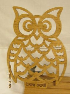 Owl Scroll Saw Plaque