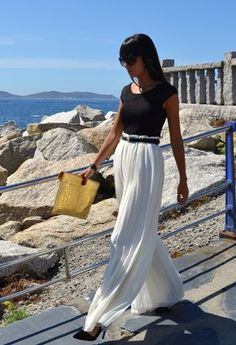 I love this look. These look like pants, not a skirt... cute and classy.  37  Maxi Dresses and Maxi Skirt  2013 Hot Fashion Trend