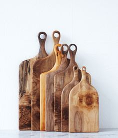 These handmade wooden cutting boards are exquisite! #wooden #household #handmade