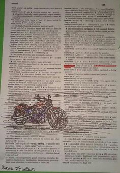 Dictionary art: Motorcycle