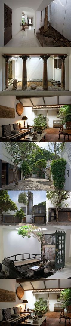 Indian Home Design, Indian Home Decor, Patio Interior, Interior Exterior, Vernacular Architecture, Interior Architecture, Interior Design Minimalist, Indian Homes, Courtyard House