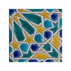 MORISCO - Dorémail Triangles, Motif Arabesque, Abstract, Artwork, Traditional Tile, Moroccan Stencil, Hexagons, Diamond Pattern, Home