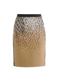 Ombré jacquard animal-print pencil skirt | Dkny | MATCHESFASHI...