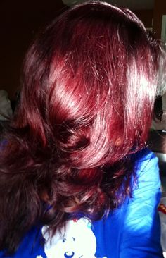 Light burgandy brown by Ion hair color+lorea'l professional red intensifier cream = gorgeous color ....not even kidding. This is my next hair color in mid  September or early October. (: so excited I cant  help it.