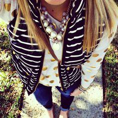 Gold dots + stripes