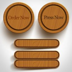 Wooden buttons collection