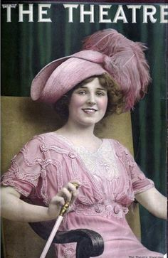 Dress and Hat idea for THE IMPORTANCE OF BEING EARNEST (Theatre Magazine July 1911 #vintage#theatre) use of buttons