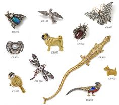 Brooches by Susannah Lovis Jewellers of London