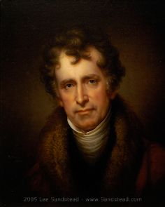 Portrait of Rubens Peale by Rembrandt Peale 1834. I find it surreal to look into his eyes, as if making a connection across time.