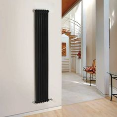 Hudson Reed Windsor Designradiator Verticaal Klassiek Zwart 180cm x 29,3cm x 6,8cm 934 Watt