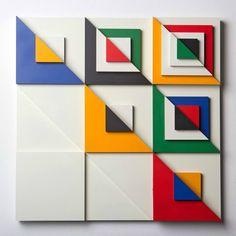 Matt W. Moore's Bold Graphics Go Dimensional - Design Milk Abstract Geometric Art, Geometric Shapes, 3d Prints, Watercolor Artists, Art Design, Abstract Photography, Art Plastique, Op Art, Three Dimensional