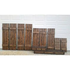 These shutters and boxes are headed off to Massachusetts ❤ 》Cordovan Brown Stain《 wood shutters