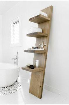 Discover authentic furniture on Couleur Locale Home Furniture, Modern Furniture, Furniture Design, Beautiful Bathrooms, Modern Bathroom, Barn Bathroom, Small Bathroom, Regal Bad, Leaning Shelf