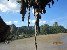 View of the bay from the cliff during low tide at Railay Bay, Krabi, Thailand!