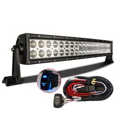 120W LED Light Bar w/ Laser Blue Beam Light & Rocker Switch Wiring Harness For Your Vehicle - http://ift.tt/2dyQPFU