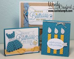 Januray Stamp Kit of the Month Happy Birthday Cards using Another Great Year Stamp set from Stampin' UP! http://www.luvinstampin.com/2014/01/januray-stamp-kit-of-month.html