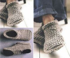 How To Make Toasty Warm Unisex Crochet Slipper Boots http://www.shtfpreparedness.com/how-to-make-toasty-warm-unisex-crochet-slipper-boots/ These slipper booties can be worn for that chilly winter weather, they'll keep your feet warm and cozy all winter long. These can be made for your man too. In fact, they can be made for the kiddos also.
