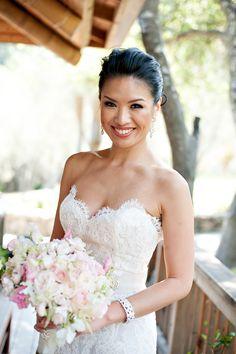 Photography: Vero  Suh - www.verosuh.com Wedding Dress: Lazaro - www.jlmcouture.com/Lazaro   Read More on SMP: http://www.stylemepretty.com/california-weddings/rutherford/2014/01/24/glam-auberge-du-soleil-destination-wedding/