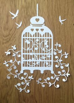 Birdcage Design Papercutting Template to by TommyandTillyDesign