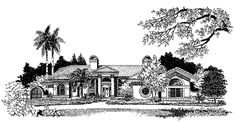 Mediterranean House Plan with 3280 Square Feet and 3 Bedrooms from Dream Home Source | House Plan Code DHSW18572