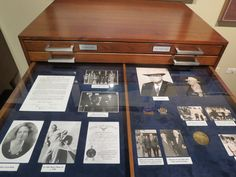 Drawers of famous ranch family history - great idea for family & ranch history storage/display