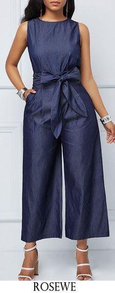 jumpsuit romper Jumpsuits For Women Are Back! Blue Jumpsuits, Jumpsuits For Women, Fashion Jumpsuits, Denim Fashion, Fashion Outfits, Womens Fashion, Jumpsuit Outfit, Denim Jumpsuit, Cotton Jumpsuit