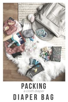 the best tips and tricks for packing cloth diapers in your diaper bag. fawn design diaper bag. best diaper bag of 2018!