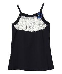 Look at this Blue Lace Ruffle Tank - Infant, Toddler & Girls on #zulily today!