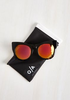 ChaCha Stride Sunglasses. Amplify the jazzy freshness of your extraordinary dance technique by busting a move in these ChaCha shades from Quay! #brown #modcloth