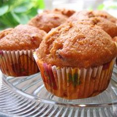 Whole Wheat Pumpkin-Applesauce Muffins Allrecipes.com...really delicious...added a bag of cinnamon chips!