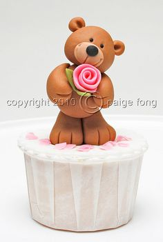 I love you bear cuppie by Paige Fong, via Flickr