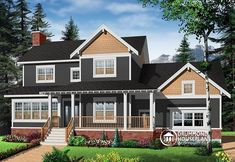 MODERN VERSION OF A POPULAR CRAFTSMAN COTTAGE   Craftsman house plan, 3 to 4 bedrooms, home office, solarium, side entry garage (# 2853A-V1)  http://www.drummondhouseplans.com/house-plan-detail/info/ridgewood-3-american-1002993.html