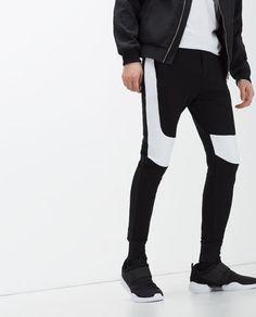 Imagen 3 de PANTALÓN CON ENCAJE de Zara Zara, Trousers, Pants, Black Jeans, Menswear, Mens Fashion, Clothes, Image, Lace