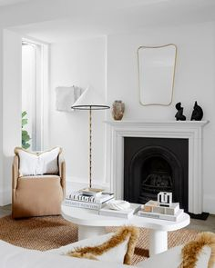 A white-on-white renovation refreshed this heritage home in Sydney | Belle Home Organisation Tips, Small Space Solutions, Melbourne House, Australian Homes, White Houses, House Design, Skylights, Interiors, Dining Rooms
